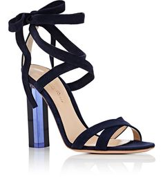 Gianvito Rossi Suede Ankle-Tie Sandals | Barneys New York