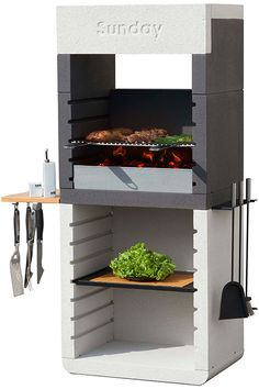 Picture of barbecue contemporain ext rieur av20m jardin for Barbecue contemporain