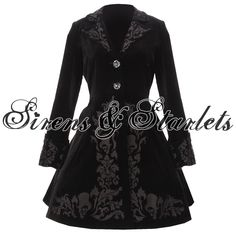 goth outfits for women | SPIN DOCTOR VICTORIAN GOTHIC STEAMPUNK VELVET COAT | eBay