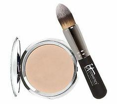 """It ""Cosmetics. Hello Light Anti-Aging Creme Luminizer with Brush. about $40 on QVC @itcosmetics"