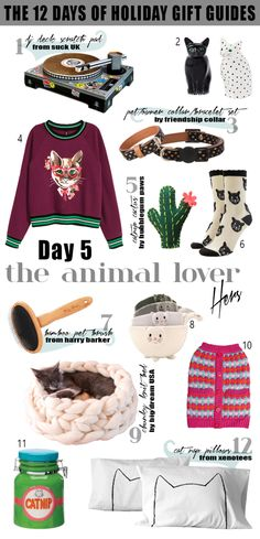 The 12 Days of Holiday Gift Guides: The Animal Lover  |  24 his and hers gift ideas people who love their pets.