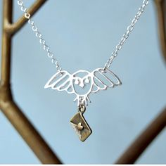 Enchanted Owl Messenger Necklace at shanalogic.com #wizard #magic