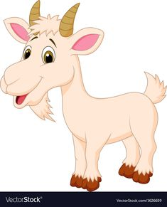 Goat cartoon character vector image on VectorStock Goat Cartoon, Cartoon Memes, Cartoon Kids, Cartoon Art, Cartoon Characters, Cartoon Drawings, Animal Drawings, Farm Animals Preschool, Baby Animals