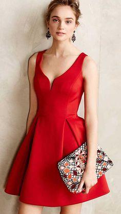 Kırmızı Düğün Elbise Modeli