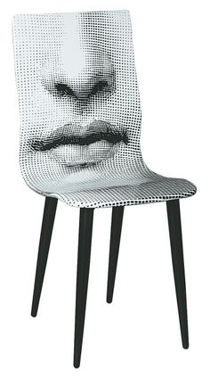 Bocca (mouth) chair, 1971 by Piero Fornasetti (steel, lithographed plywood) Weird Furniture, Art Furniture, Unique Furniture, Painted Furniture, Furniture Design, Take A Seat, Home And Deco, Sofa Chair, Chair Design