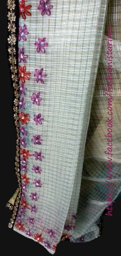 A Bright Synthetic Fabric Muga Color Mekhela And Blousepiece With Cheque Pattern Sador Hand ...