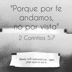 """DESAFÍO DE FE. 2 Corintios 5:7 """"(porque por fe andamos, no por vista)"""" Mientras estaba almorzando en un restaurante de comida china, reflexionaba sobre la necesidad de mirar por fe las…"""