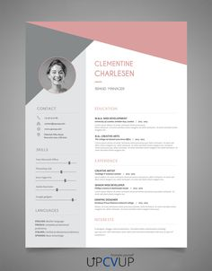 Exemple CV Attractif à télécharger format word - cv moderne - UPCVUP Cv Template Word, Cv Design Template, Templates, Word Cv, Cv Words, Cv Online, Online Resume, Resume Cv, Resume Design