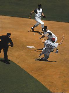 Baseball Art, Sports Art, American Art, Painting & Drawing, Illustrators, Turning, Game, Illustrator, Gaming