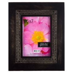 Get 5 x 7 Black Distressed Frame with Floral Design online or find other Picture Frames products from HobbyLobby.com