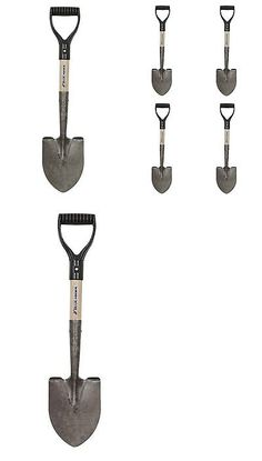 Trowels 122907: Blue Hawk Compact Wood Digging Shovel 5 Pack Gradening Hand  Tool Compact Steel