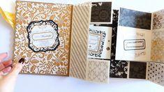 Biglietto Maxi Tri shutter per Natale tutorial - Geburtstagskarte Diy Mini Albums, Mini Album Scrap, Mini Scrapbook Albums, Baby Scrapbook, Origami Gift Box, Mini Album Tutorial, Scrapbook Journal, Scrapbook Designs, Handmade Books