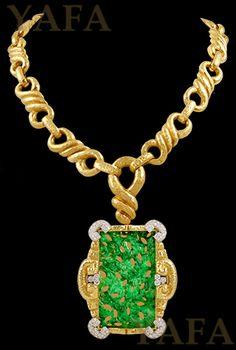 david_webb_jade_and_diamond_necklace_and_brooch