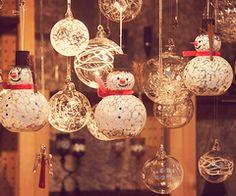 DIY Xmas ornament lights! :)