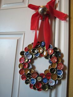 Bottle Cap Wreath - Inspiration only