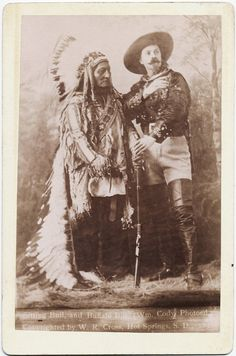 Sitting Bull and Buffalo Bill - Published by W. R. Cross - c. 1891