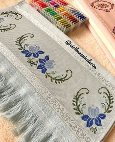 1 million+ Stunning Free Images to Use Anywhere Crewel Embroidery, Cross Stitch Embroidery, Embroidery Patterns, Cross Stitch Borders, Cross Stitch Designs, Palestinian Embroidery, Free To Use Images, Bound Book, Handmade Books