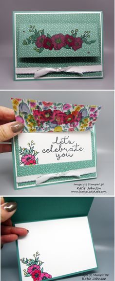 Use any large die to make a flap for a message. This card features Stampin'Up!'s Bloom and Grow stamp set.