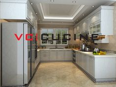 U shape kitchen cabinet with simple design U Shaped Kitchen Cabinets, Solid Wood Kitchen Cabinets, Solid Wood Kitchens, Simple Designs, China, The Originals, Table, Furniture, Home Decor