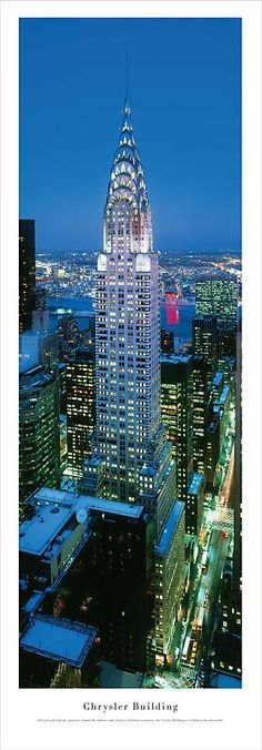 Chrysler Building, designed by architect William Van Alen, is located at the intersection of 42nd Street and Lexington Avenue. It is NYC's fourth-tallest building while remain the tallest brick building in the world. #NYC #stunning