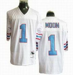be934f567 nfl Houston Oilers  1 Warren moon Premier Throwback white. Buy Jerseys