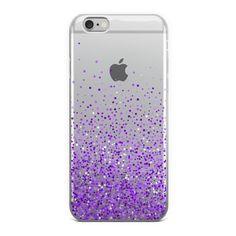 Abstract Purple Glitter Confetti iPhone Case