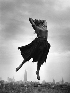 Philippe Halsman She doesn't look like she is dancing.