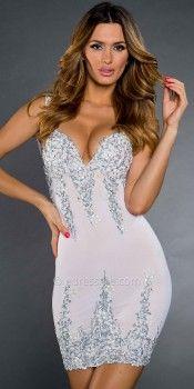 Arianna Silver Embellished Cocktail Dresses by Holt-image