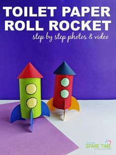 There are lots of outer space fun activities you can do with the kids. Check out this fun rocket ship craft and learn more about Floogals. Space Activities, Kindergarten Activities, Activities For Kids, Paper Towel Roll Crafts, Paper Crafts, Space Facts For Kids, Rocket Ship Craft, Cool Science Experiments, Toddler Crafts