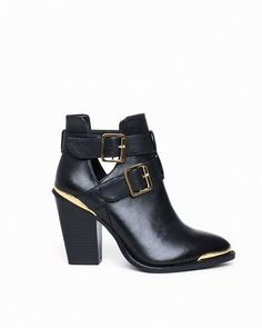 eced39ed34dd buckle stacked heel ankle boot Me Too Shoes