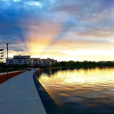 """We are a little bit in love with this photo by Instagrammer @literaryemma of """"another gorgeous evening on the lake at Kingston Foreshore"""". #visitcanberra"""