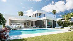 Marbella Villas, Villa With Private Pool, Luxury Villa, Luxurious Bedrooms, Malaga, Luxury Real Estate, Penthouses, Modern Architecture, House Design