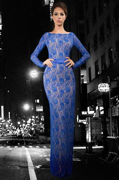 The Blue Passion Dress in Blue Lace by Savee Couture at CoutureCandy.com