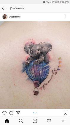 Deborah Genchi Creates Incredibly Versatile Tattoos cute elephant tattoo © tattoo artist Deborach Genchi ❤🐘❤🐘❤🐘❤🐘❤ This image has get Great Tattoos, Trendy Tattoos, Beautiful Tattoos, Body Art Tattoos, Small Tattoos, Girl Tattoos, Small Colorful Tattoos, Crow Tattoos, Phoenix Tattoos