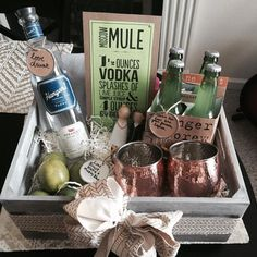 Moscow Mule Gift Basket via Bourbon and Blonde Roast