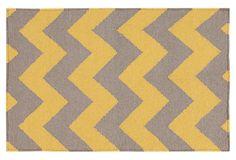 8' x 11' Bianca Flat-Weave Rug, Citrine on OneKingsLane.com