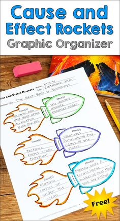 Awesome Cause and Effects Rocket graphic organizer freebie from Laura Candler's Graphic Organizers for Reading: Teaching Tools Aligned with the Common Core!