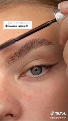 Dewy Makeup, Eyebrow Makeup, Beauty Makeup, Flawless Face Makeup, Makeup Eyebrows, Dramatic Makeup, Makeup Hacks Videos, Makeup Tips, Model Makeup Tutorial