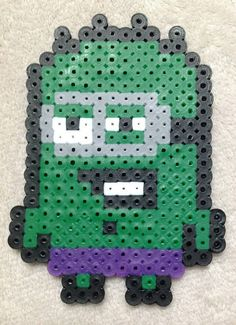 Minion Super Hero Hulk Perler Bead Art by EightBitEvolution change to cross stitch