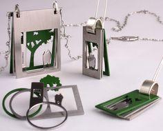 """Urban"" pendant, earrings and rings - Juana Rodriguez"