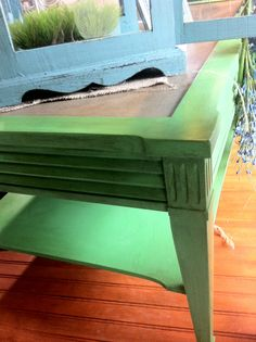 Antibes Green and Coco Chalk Paint® decorative paint by Annie Sloan.