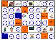 Juego de oca: horas y actividades cotidianas #ELE #A1 http://petitlien.fr/88s9