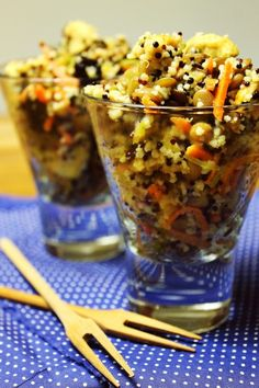Salada de grãos com frango