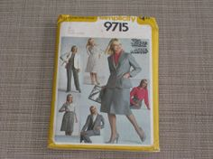 Simplicity 9715 Sewing Pattern  Misses by TheWowFactorCreative, $5.00