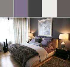 Purple and Gray Bedroom Designed By AllModern via Stylyze