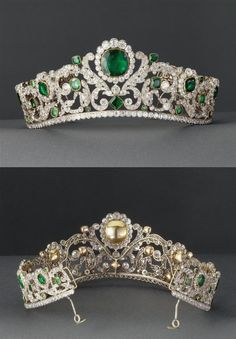 Tiara of Marie Therese Charlotte, the Duchesse d'Angouleme, daughter of Louis XVI and Marie Antoinette.