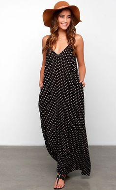 black + white maxi dress
