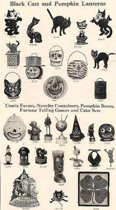 Old sales page of fabulous Hallowe'en treasures.