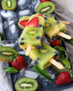 Fresh fruits home made  popsicles