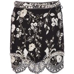 GENNY BY GIANNI VERSACE VINTAGE floral beaded skirt